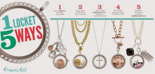 Origami Owl - One Locket 5 Ways
