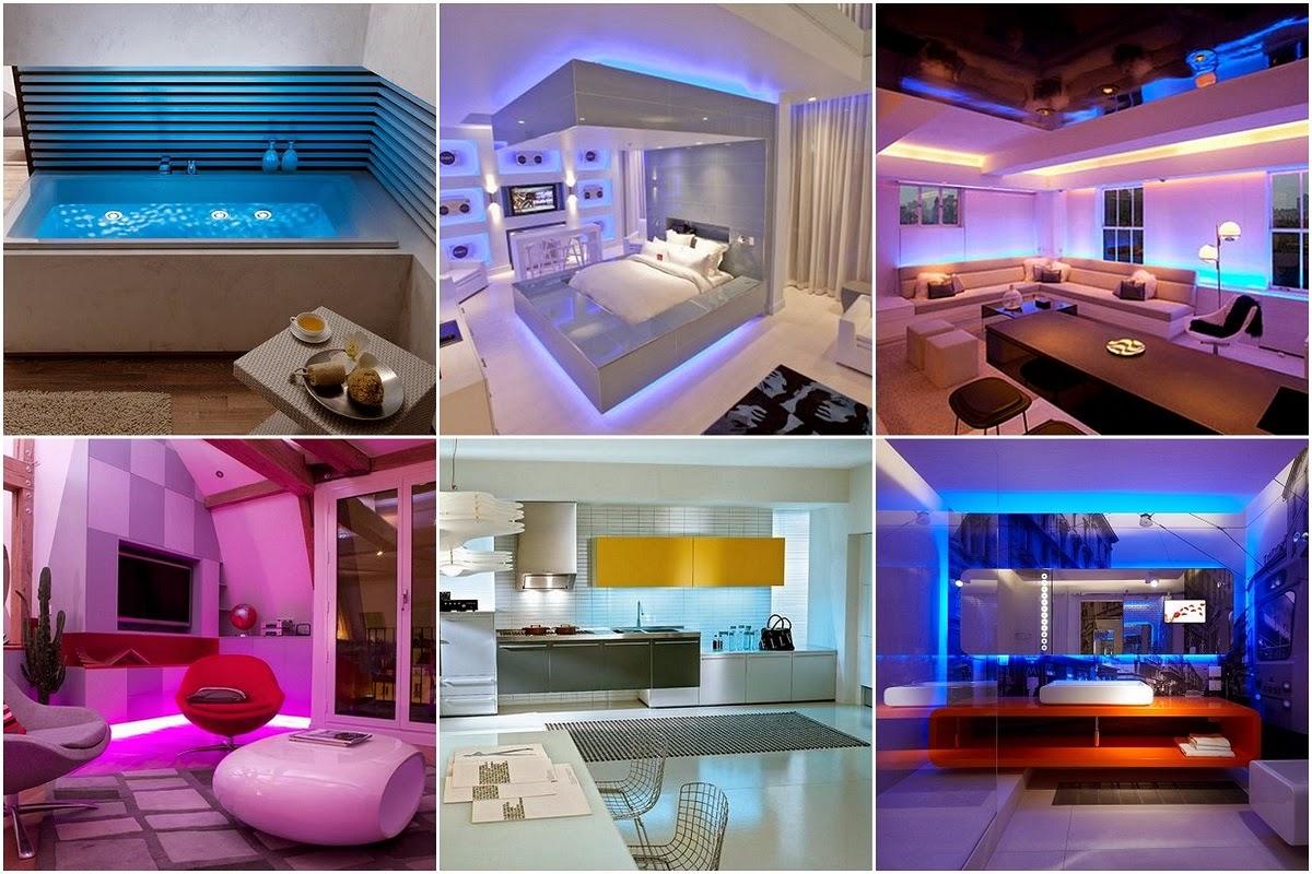 LED Lighting Interior Designs For Homes