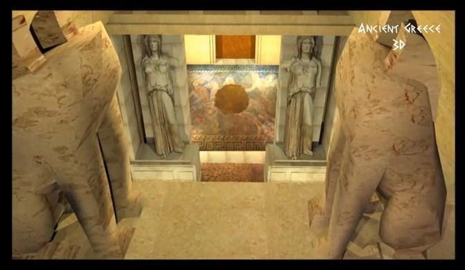 Αμφίπολη :   Τριδιάστατη απεικόνιση στο εσωτερικό του τύμβου