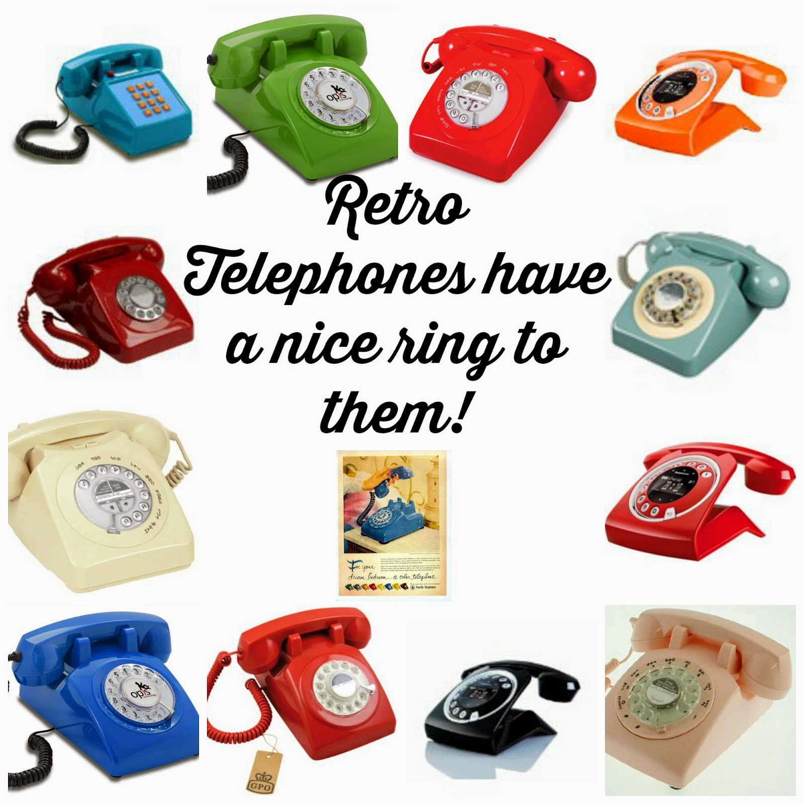 , Retro Phone Love #interiors
