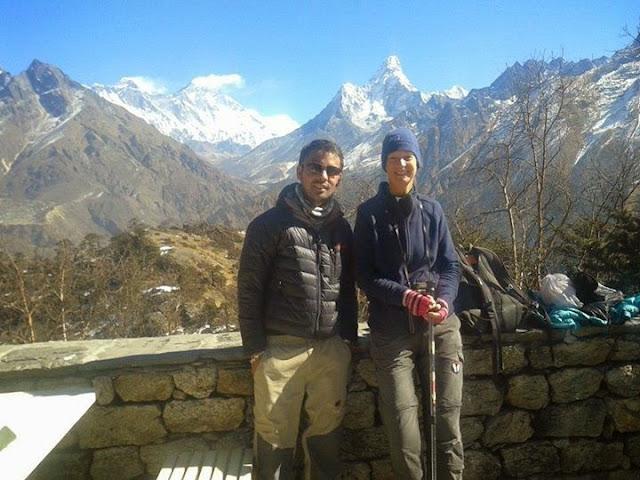 Trekking in Everest base camp trek