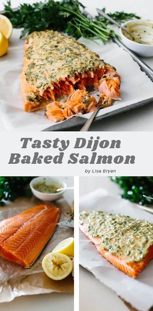 Tasty Dijon Baked Salmon
