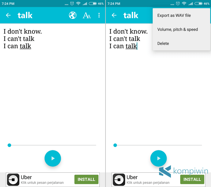 menyimpan hasil text to speech di android