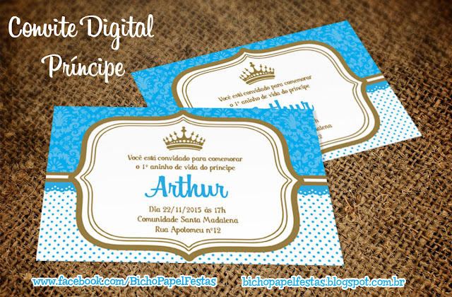 Convite Príncipe Rei Arthur