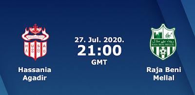 مشاهدة مباراة حسنية أكادير ورجاء بني ملال البطولة المغربية الاحترافية 27/7/2020 اون لاين