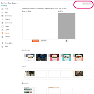 See How Easily You Can Backup Your Content and Template in Blogger