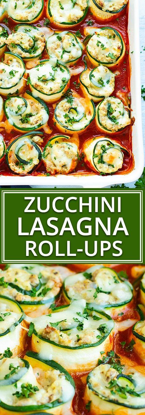 Zucchini Lasagna Roll-Ups | Keto, Low-Carb