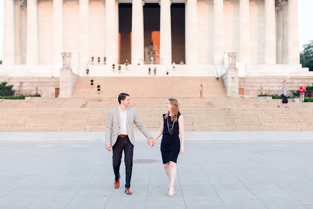 Lincoln Memorial Engagement Session photographed by Maryland Wedding Photographer Heather Ryan Photography
