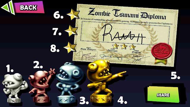 cheat membuka semua tropi zombie tsunami