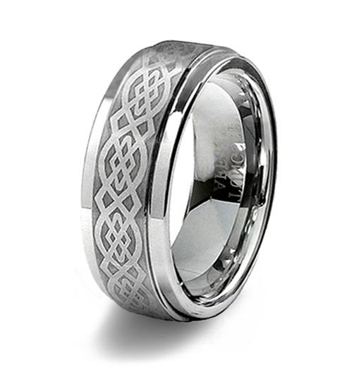 Tungsten Celtic Wedding Rings