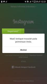 Cara Mengatasi instagram maaf terdapat masalah pada ...