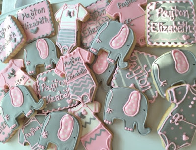 Elephant Sugar Cookies For A Baby Shower Or Birthday Party My
