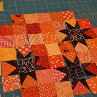 Halloween wonky stars: QuiltBee