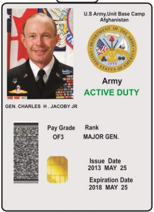Us Military Id Card 2018