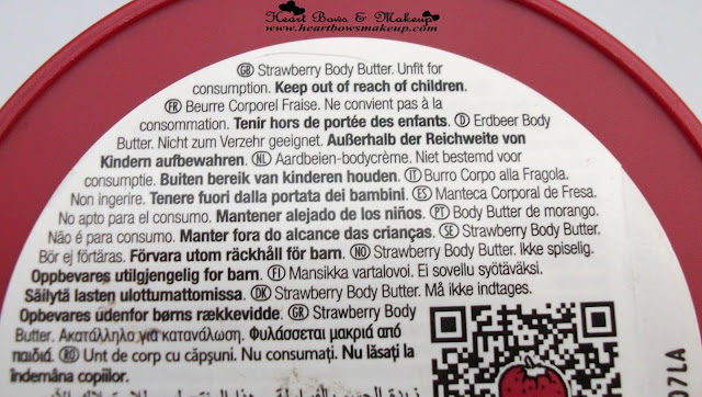 TBS Strawberry Body Butter Review Price India
