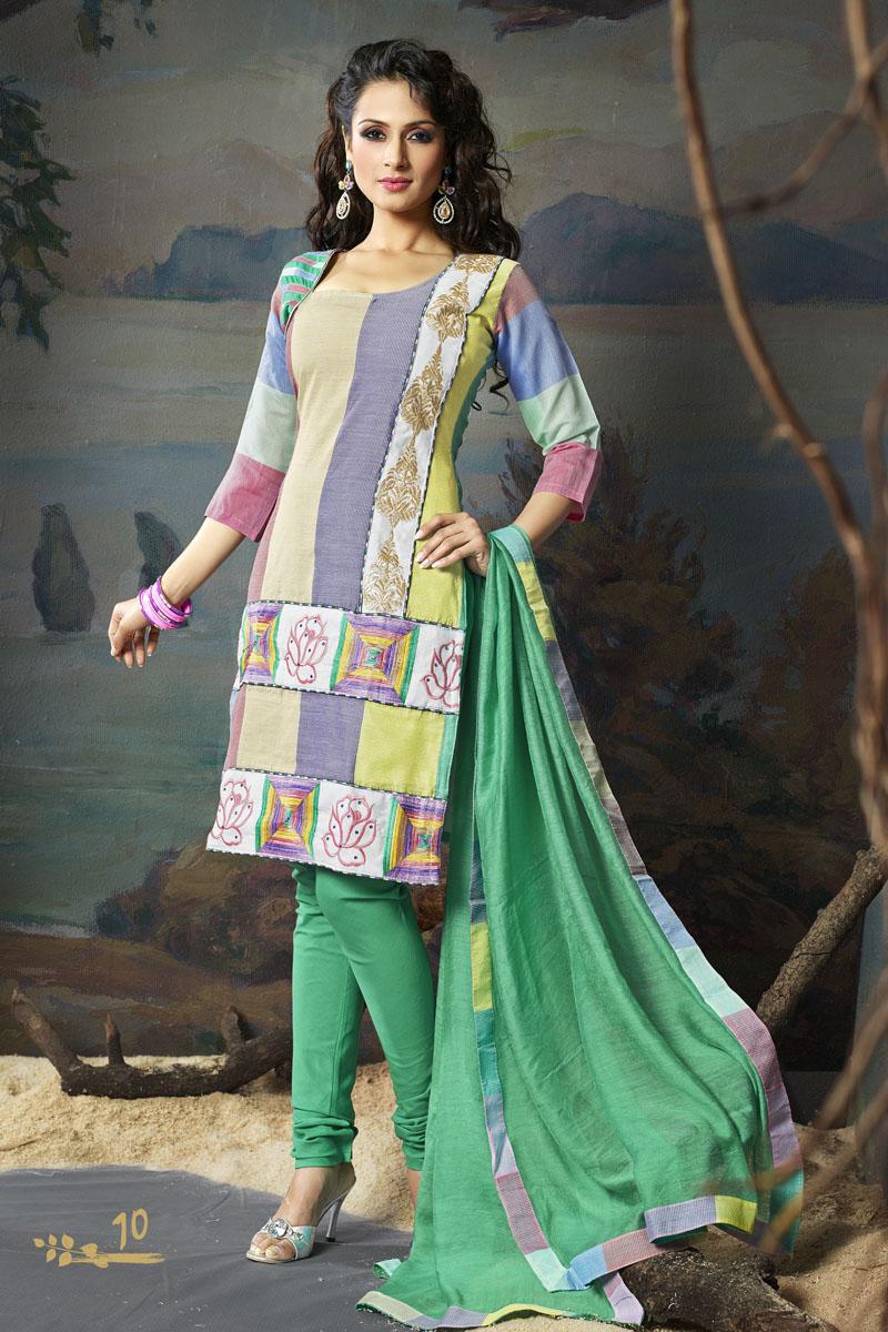 Ladies Embroidered Salwar Kameez - Indian Designer Suits ...