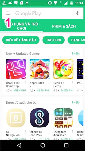 Hướng dẫn thanh toán trên Ch Play bằng thẻ sim VinaPhone b