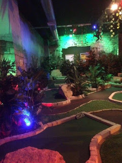 Indoor Adventure Golf course at Oasis Fun in Bournemouth. Photo by Mick Gisbourne December 2016