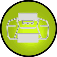 print glowing icon