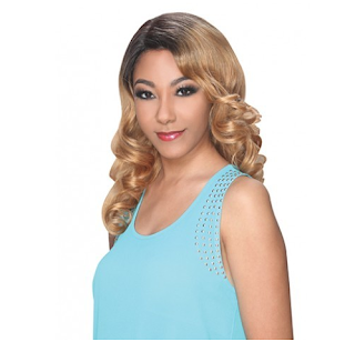 medium length blonde wig from #Divatress #beauty #ad