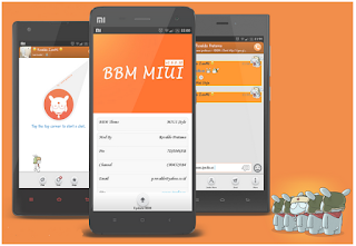 Tampilan BBM Mod MiUI Theme v2.8.0.21
