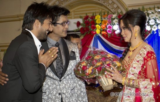 rajesh hamal and madhu bhattarai wedding, jeewan luitel