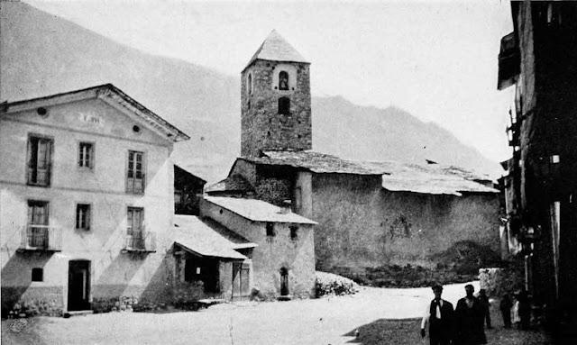 Андорра-ла-Велья - Церковь Святого Стефана в 1920 г.
