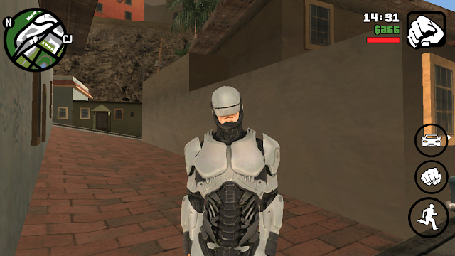 Robocop 2014 Skin For GTA San Andreas Android Download