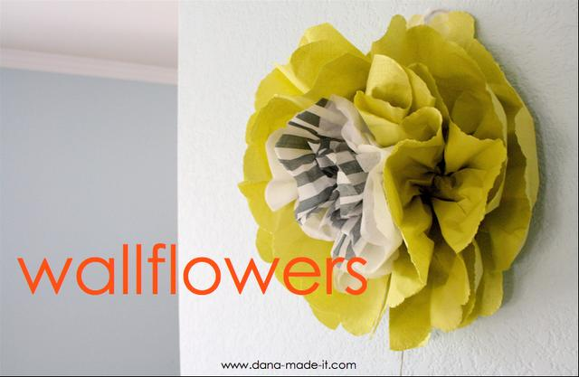 Its written on the wall tutorial wall flowers made out of tissue wallflowers1g mightylinksfo