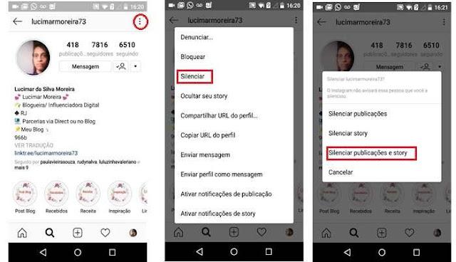 Instagram: Como silenciar publicações e story