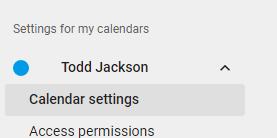 Instellingen voor mijn agendas
