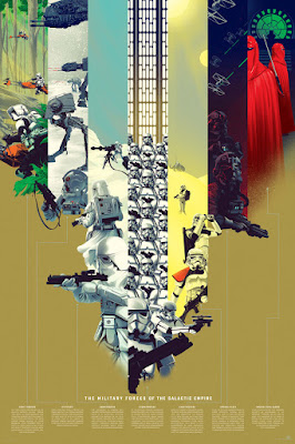 "Star Wars ""The Military Forces of the Galactic Empire"" Variant Screen Print by Kevin Tong x Mondo"