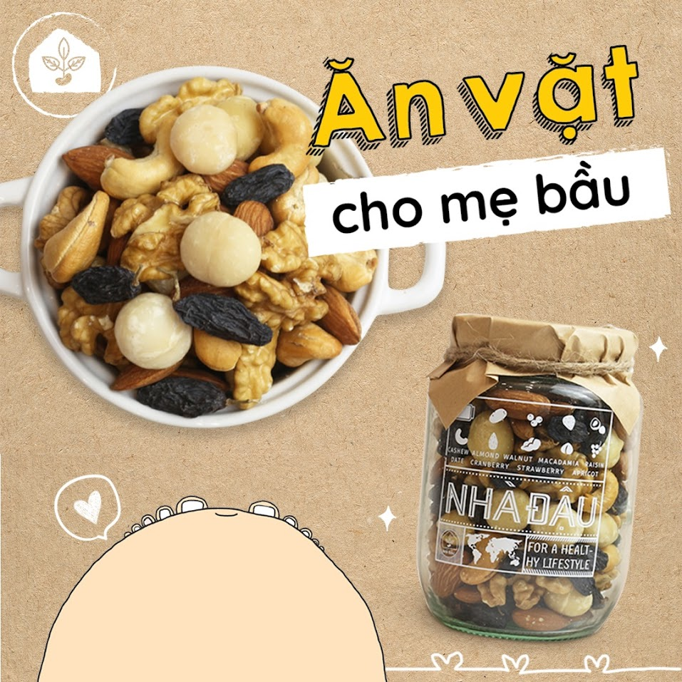 Mixnuts 5 loại hạt Mẹ Bầu nên ăn trong tam cá nguyệt thứ nhất