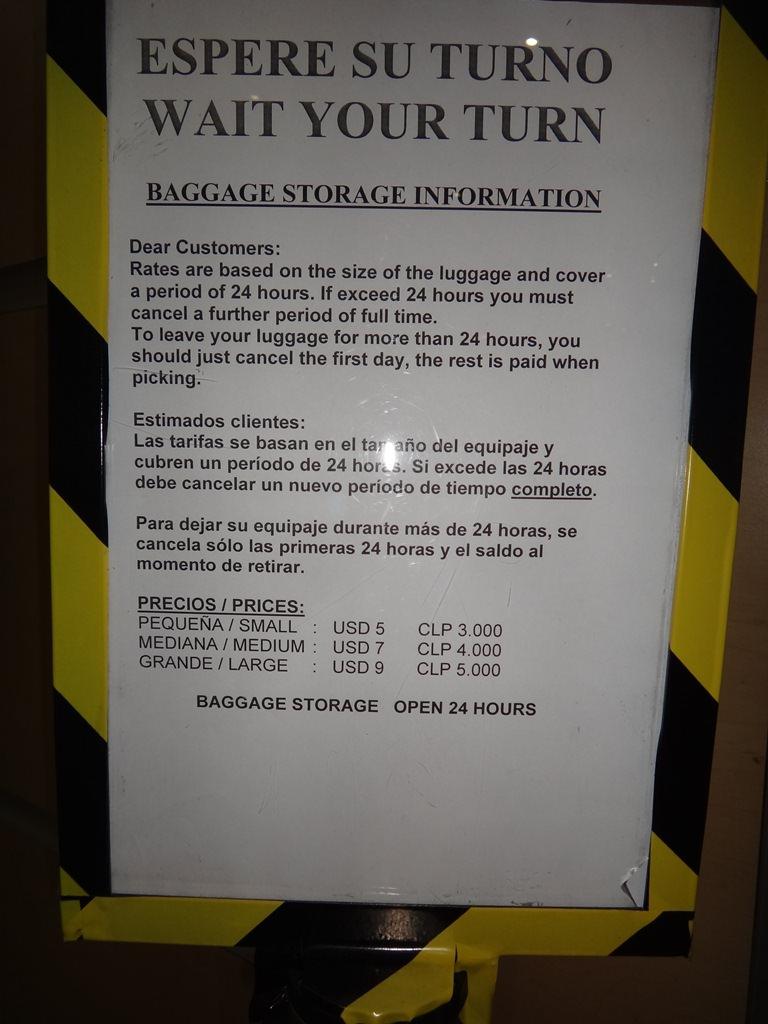 Onde guardar malas no Aeroporto de Santiago
