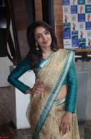 Tejaswi Madivada looks super cute in Saree at V care fund raising event COLORS ~  Exclusive 037.JPG