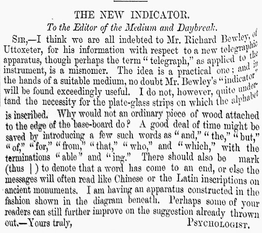 The New Indicator, 1871