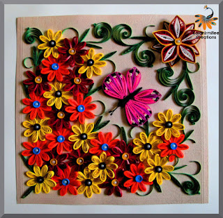 kalanirmitee: Paper Quilling- Quilled flowers-3D quilling- quilling ideas- quilling projects- quilled butterfly