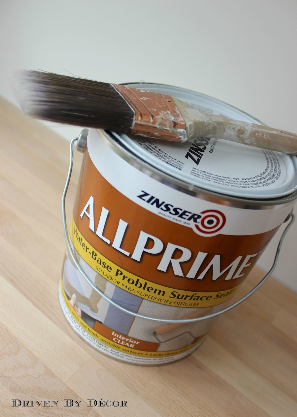 After Stripping The Wallpaper And Scraping Scrubbing Off Residual Glue I Lightly Sanded Walls Then Brushed On A Coat Of Zinsser ALLPRIME
