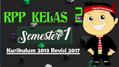 RPP Kelas 2 SD Semester Ganjil Kurikulum 2013 Revisi 2017
