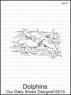Our Daily Bread Designs Stamp set: Dolphins