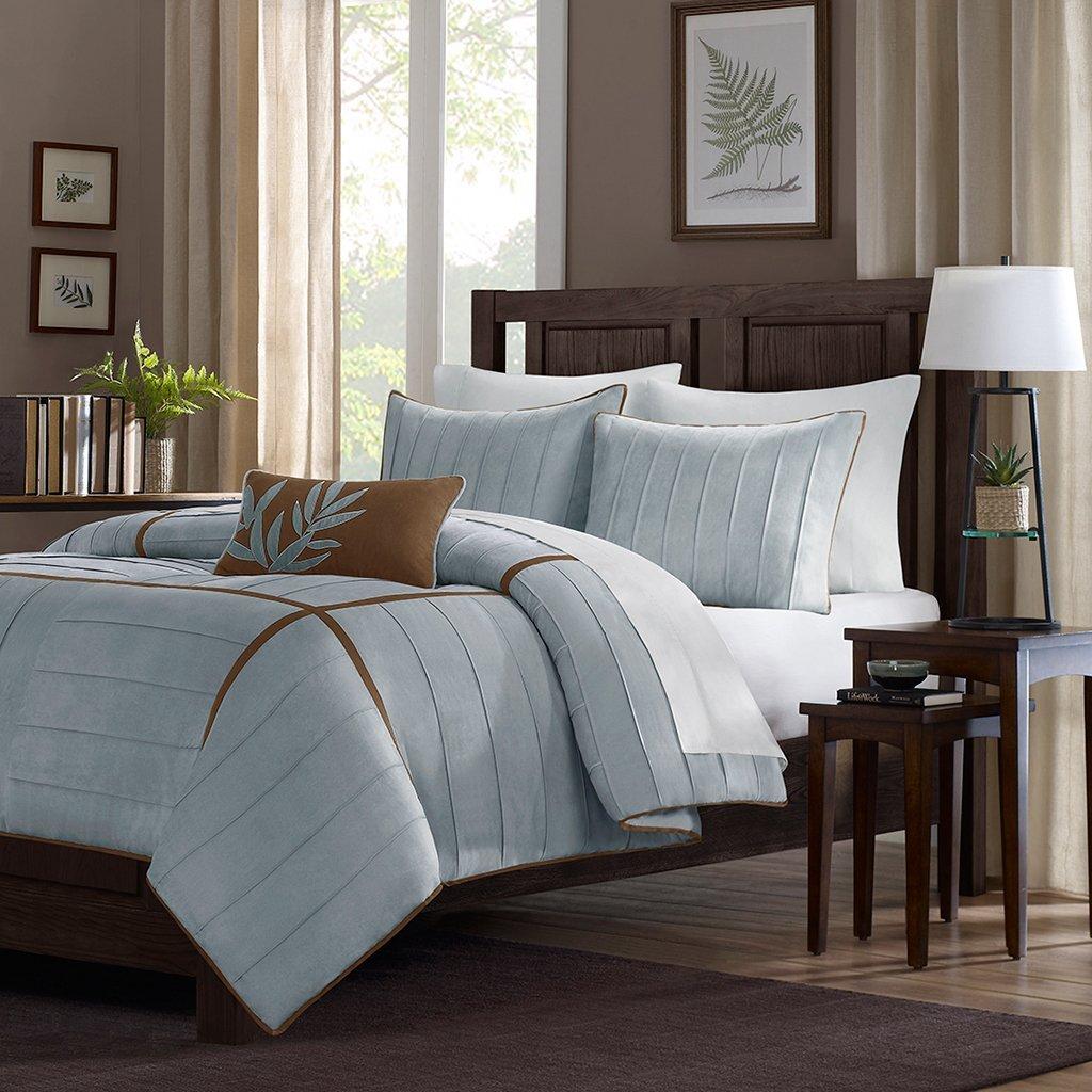 Light Blue and Brown Bedding & Comforter Sets