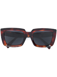 replica celine brown tortoiseshell rectangle frame sunglasses
