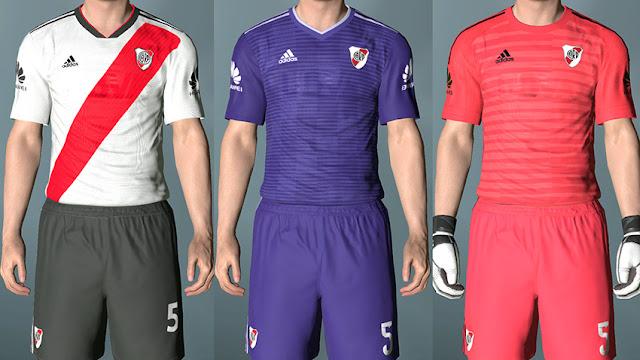 6b1cac2bb PES 2017 River Plate Full Kits New Season 2018 19 - Micano4u