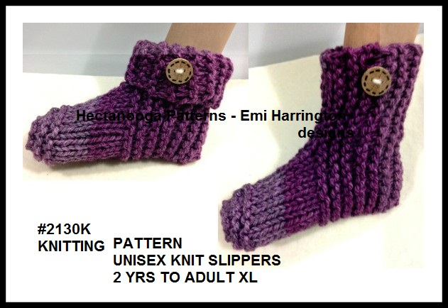 Hectanooga Patterns Free Knitting Pattern Tea Cakes Slippers