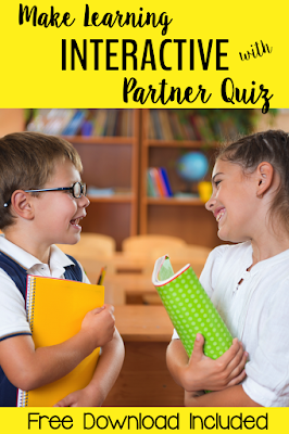 How have you used Partner Quiz in your classroom? If you have not yet used it, grab this free download and give it a try!