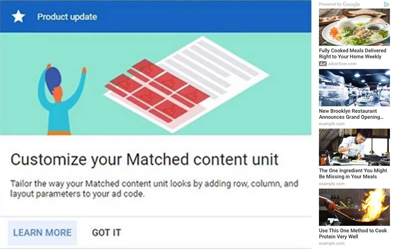 Cara Baru Kustomisasi Unit Matched Content Adsense