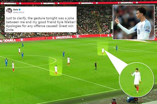 """FIFA đang điều tra vụ """"ngón tay thối"""" của Alli"""