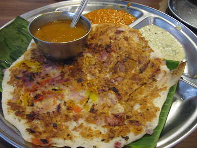 Madras New Woodlands Restaurant, tomato uttapam