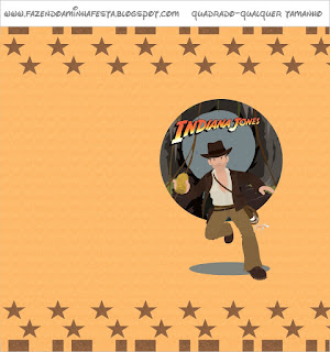 Indiana Jones, Free Printable Candy Bar Labels.