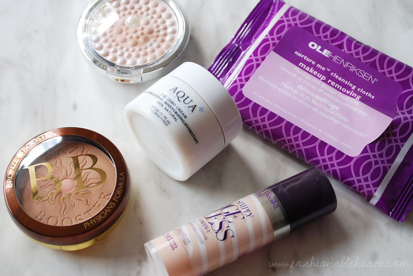 bbloggers, bbloggersca, beauty blogger, favorites, summer, covergirl simply ageless, physicians formula bronze booster, translucent mineral glow pearls, ole henriksen nurture me cleansing cloths, aqua skincare pm-zero cream